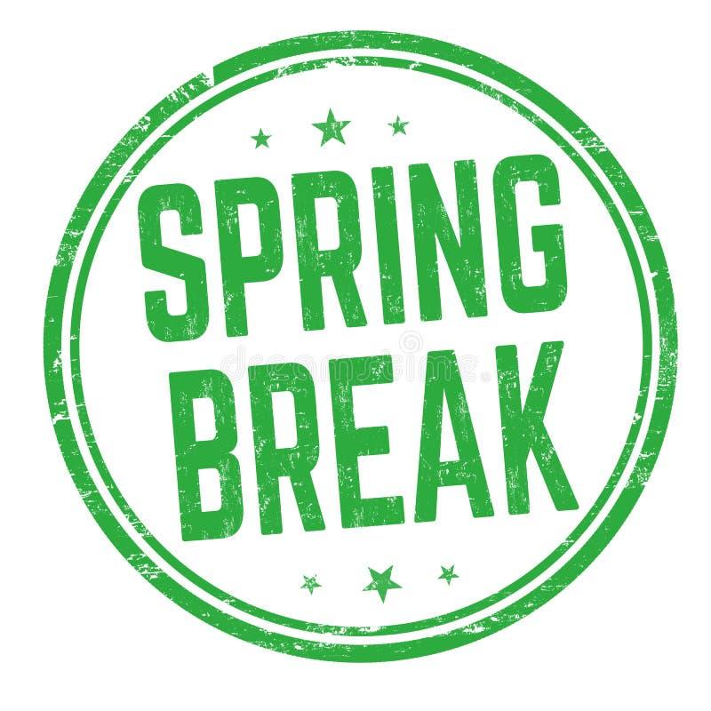 春假标志或邮票 向量例证