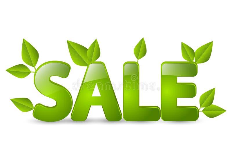 春天与叶子的销售消息 向量例证