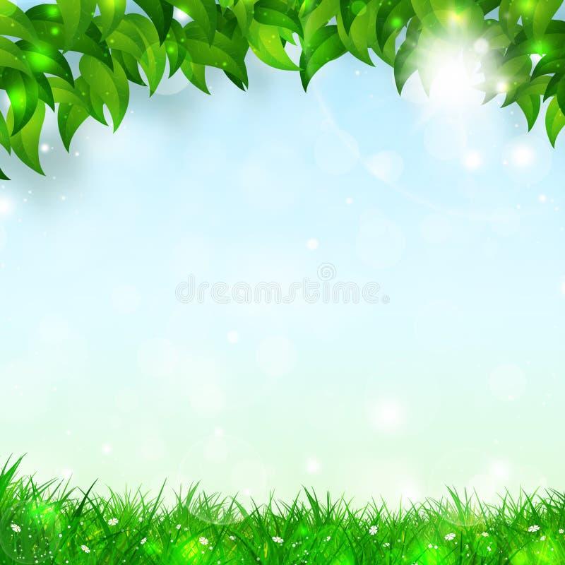 春天假日背景 向量例证
