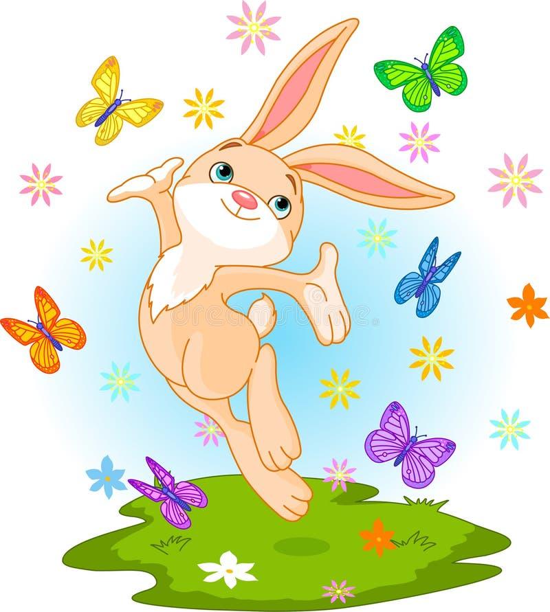 春天兔宝宝 向量例证
