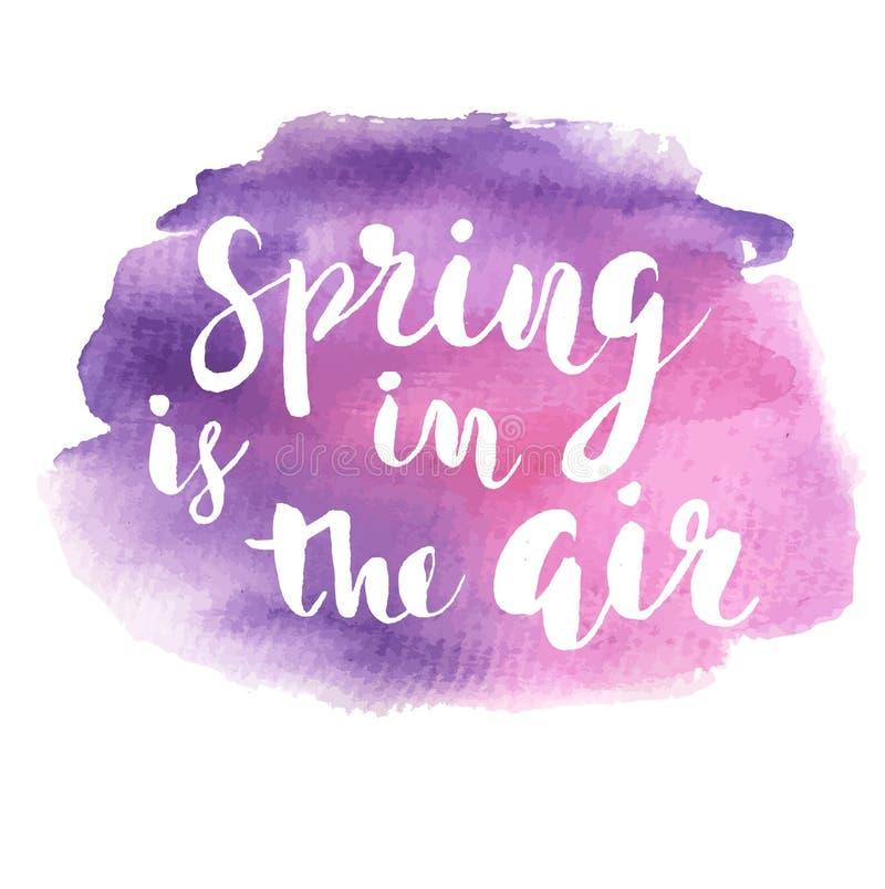 春天在空气手拉的启发行情 库存例证