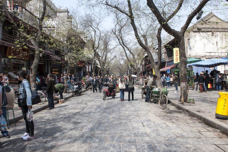 春天在西安,中国老城镇  库存照片