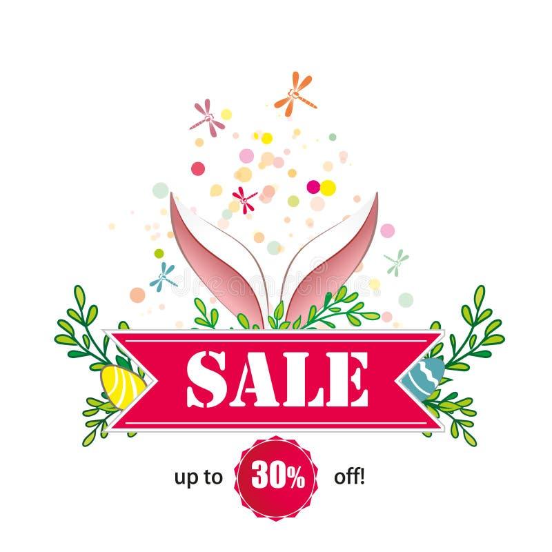 春天复活节销售和折扣广告  库存图片