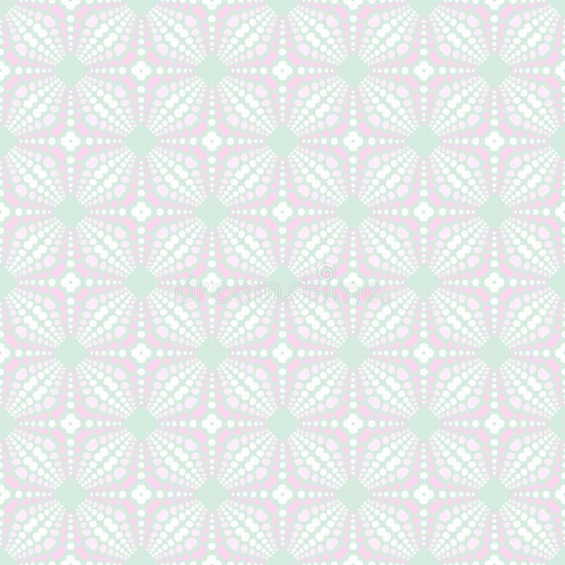 春天嫩五颜六色的无缝的样式 圈子、斑点和小点 向量例证