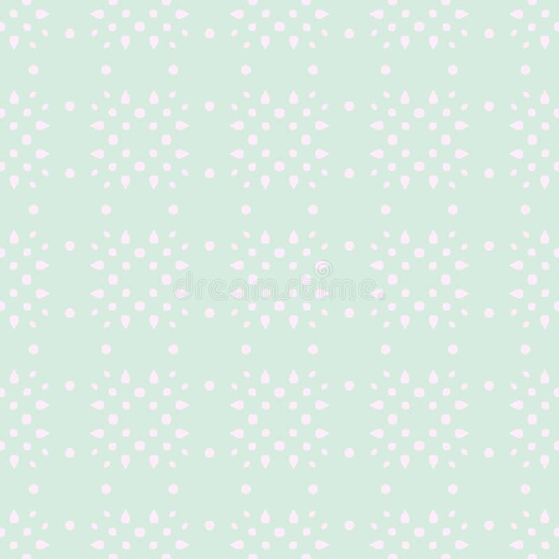 春天嫩五颜六色的无缝的样式 圈子、斑点和小点 库存例证