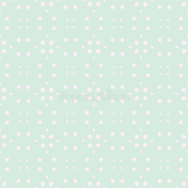 春天嫩五颜六色的无缝的样式 圈子、斑点和小点 皇族释放例证