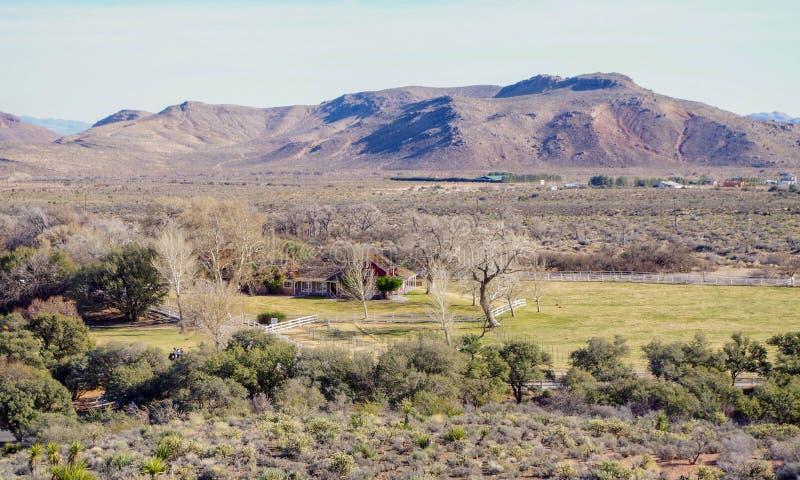 春天山大农场国家公园,内华达,美国 免版税库存照片