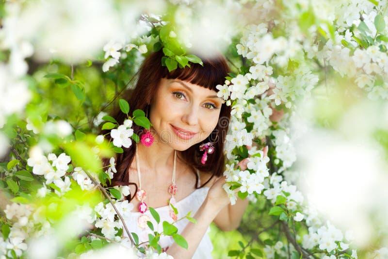 春天微笑  库存图片