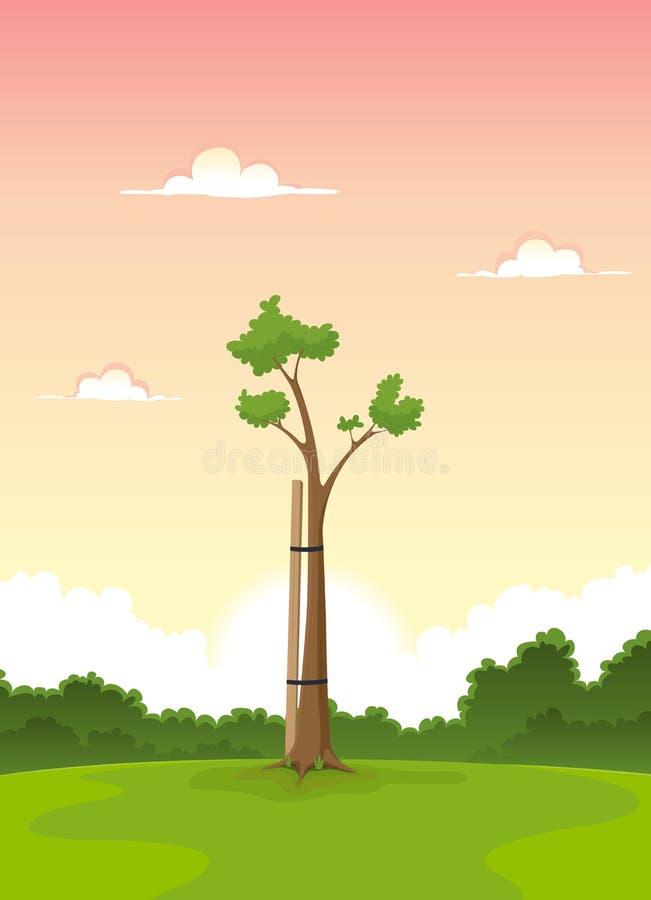 春天新结构树-生活的早晨 皇族释放例证