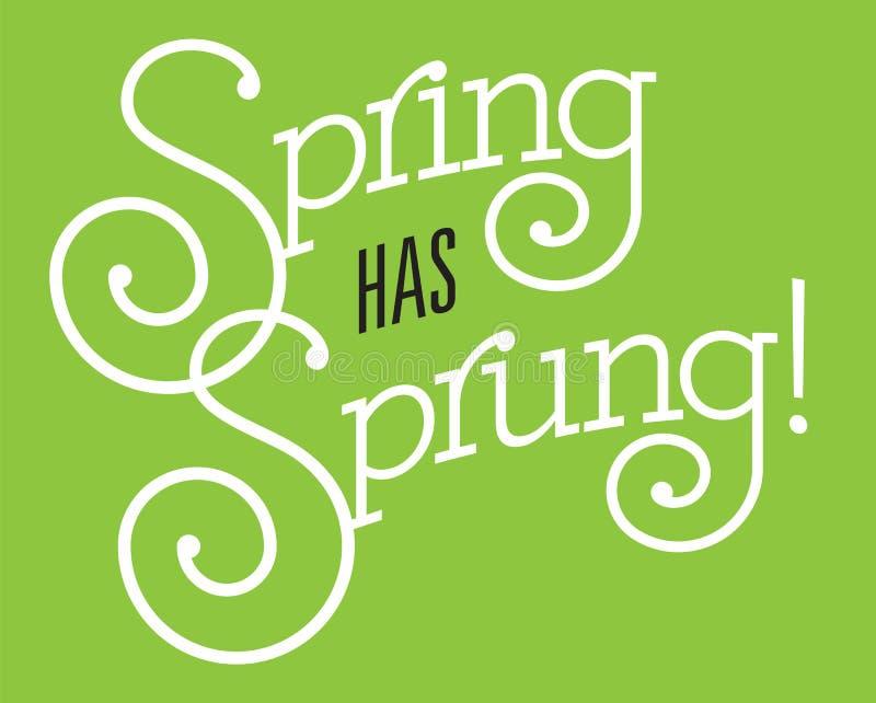 春天有被反弹的传染媒介设计 向量例证