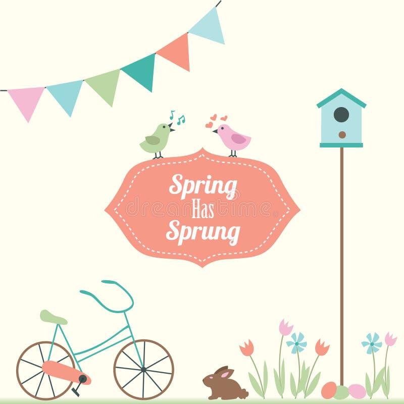 春天有被反弹的传染媒介例证 向量例证