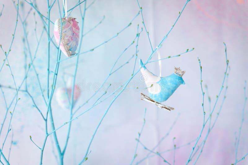 春天柔和的淡色彩装饰 库存照片