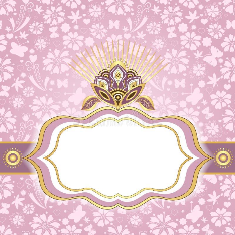 Download 春天桃红色金子复活节框架 向量例证. 插画 包括有 卷毛, 豪华, 金子, 五颜六色, 光芒, 生日, 金银细丝工 - 30337173