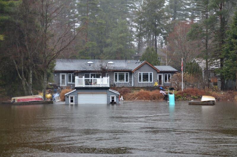 春天洪水在布雷斯布里奇,2019年 库存照片
