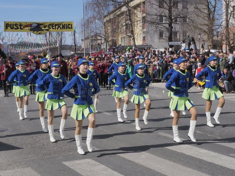 春天游行的指挥队 免版税库存照片