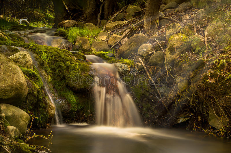 春天瀑布Tiverton安大略加拿大 库存照片