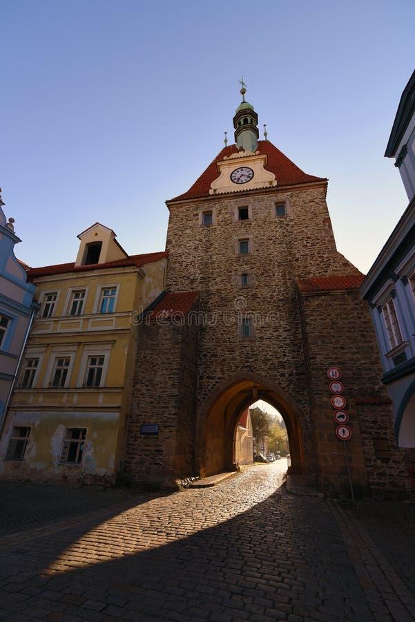 春天的镇Domazlice 免版税库存图片