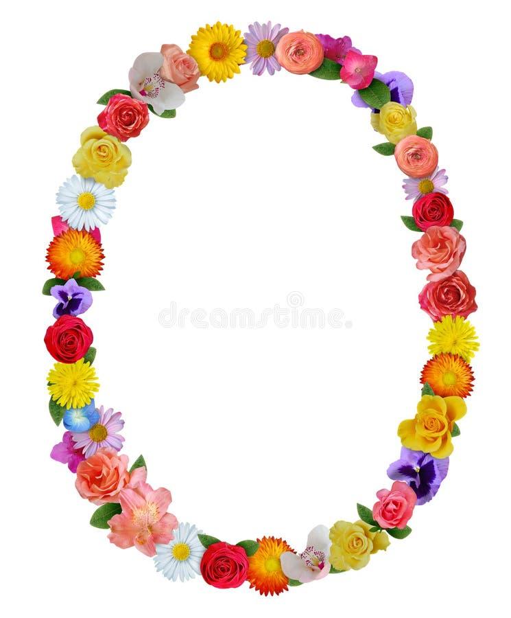 春天花卉框架 库存图片