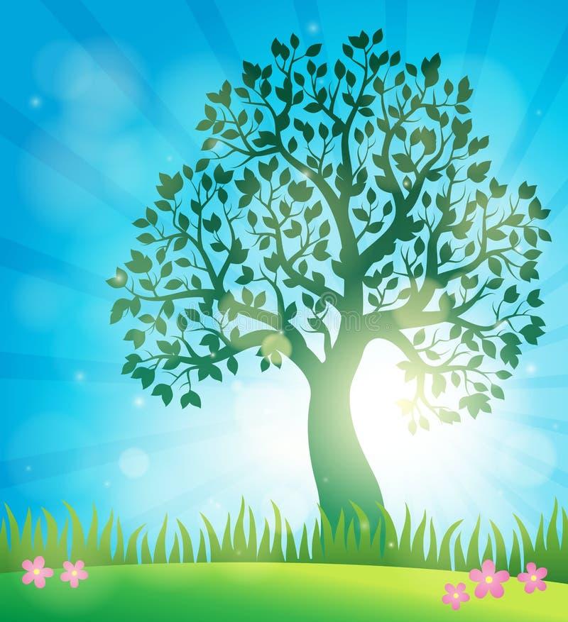 春天题目背景3 向量例证