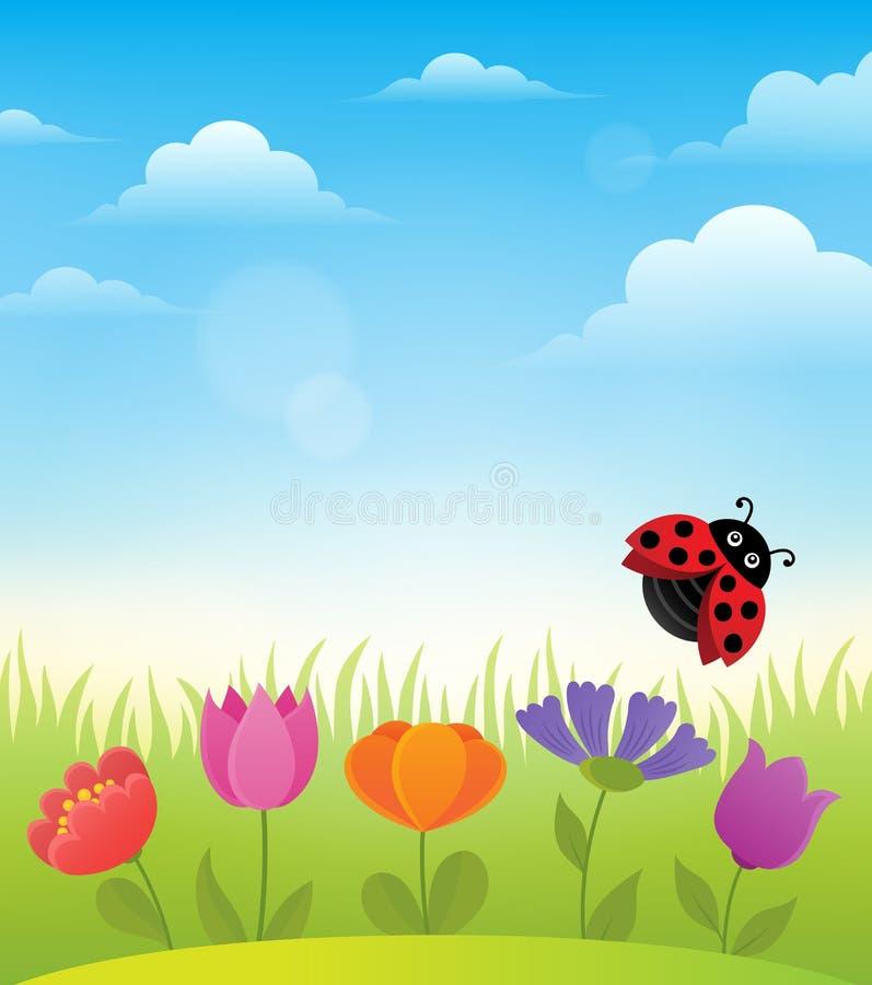 春天题目背景7 向量例证