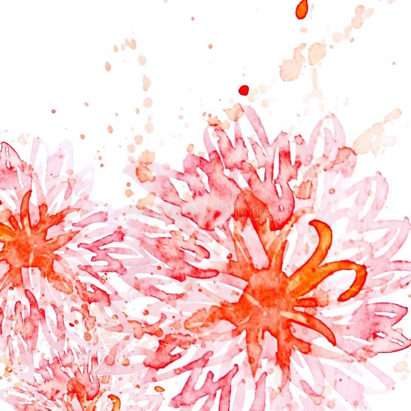 春天水彩花背景 被说明的传染媒介 皇族释放例证