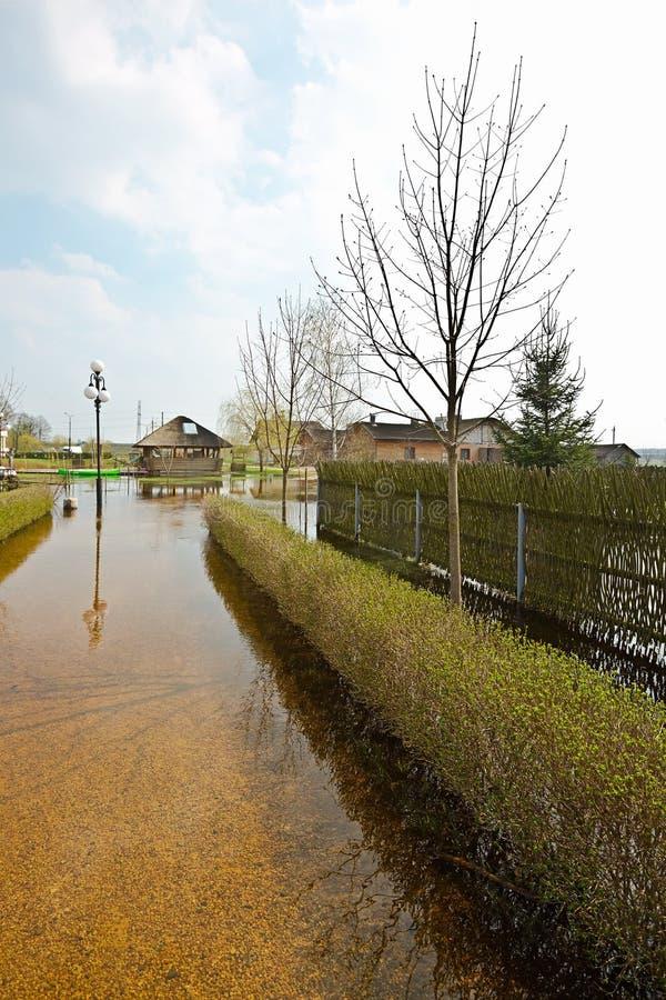 春天洪水,白俄罗斯 免版税图库摄影