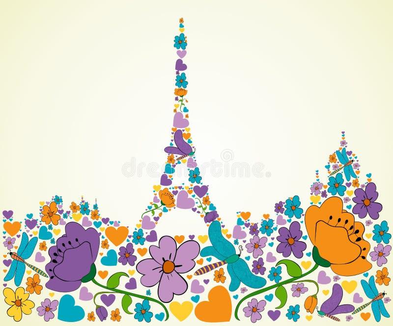 春天巴黎 向量例证