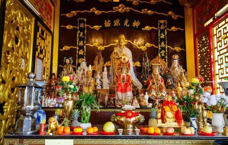 春节的庆祝在寺庙萨潘Hin的 免版税库存图片