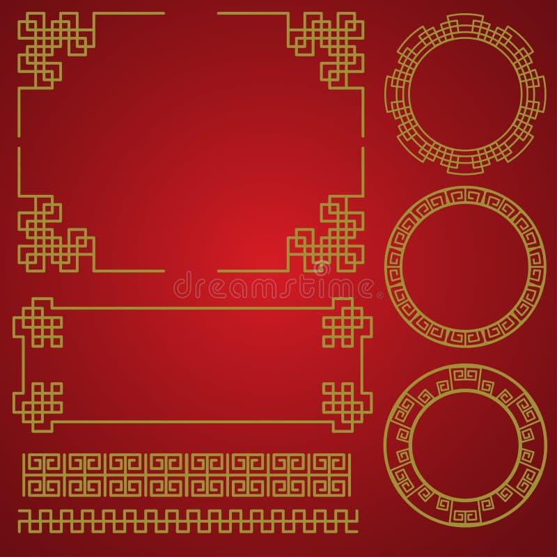 春节边界,传染媒介元素 库存例证