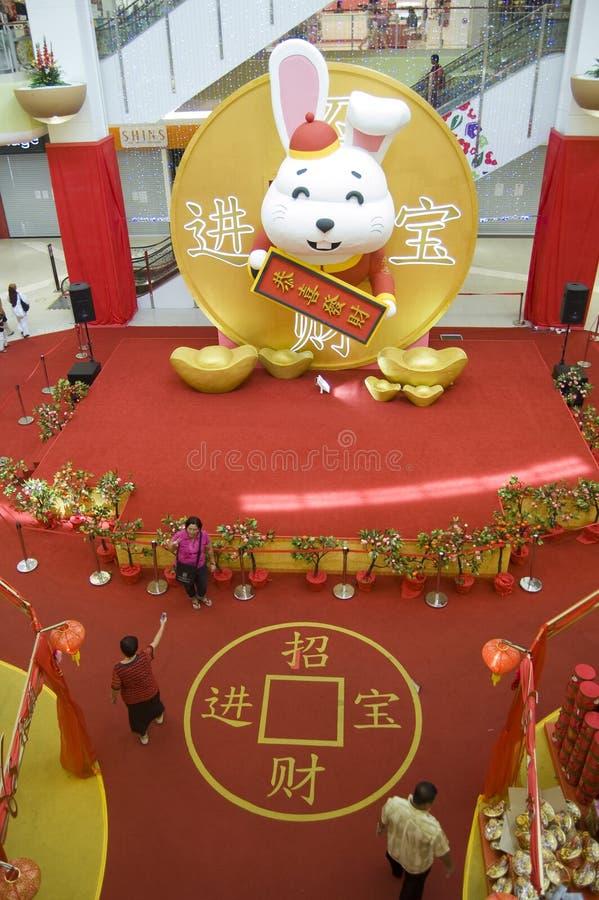 春节,年的庆祝兔子 库存图片