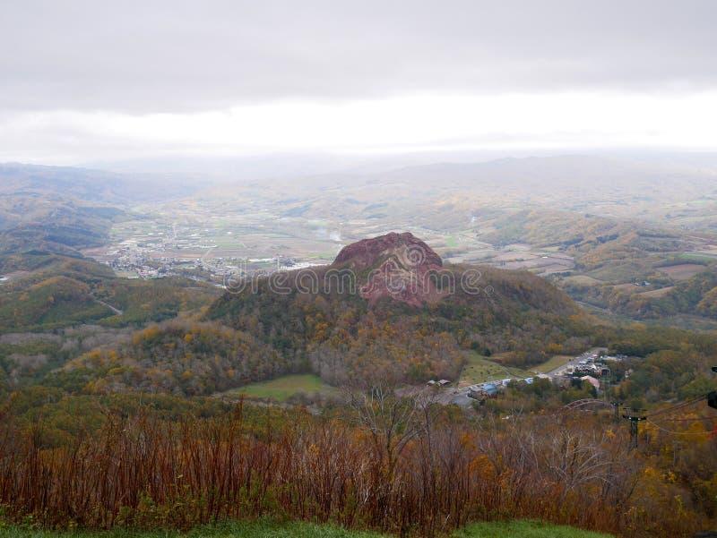 昭和Shinzan is is在Shikotsu-Toya Na的一个火山的熔岩圆顶 库存图片