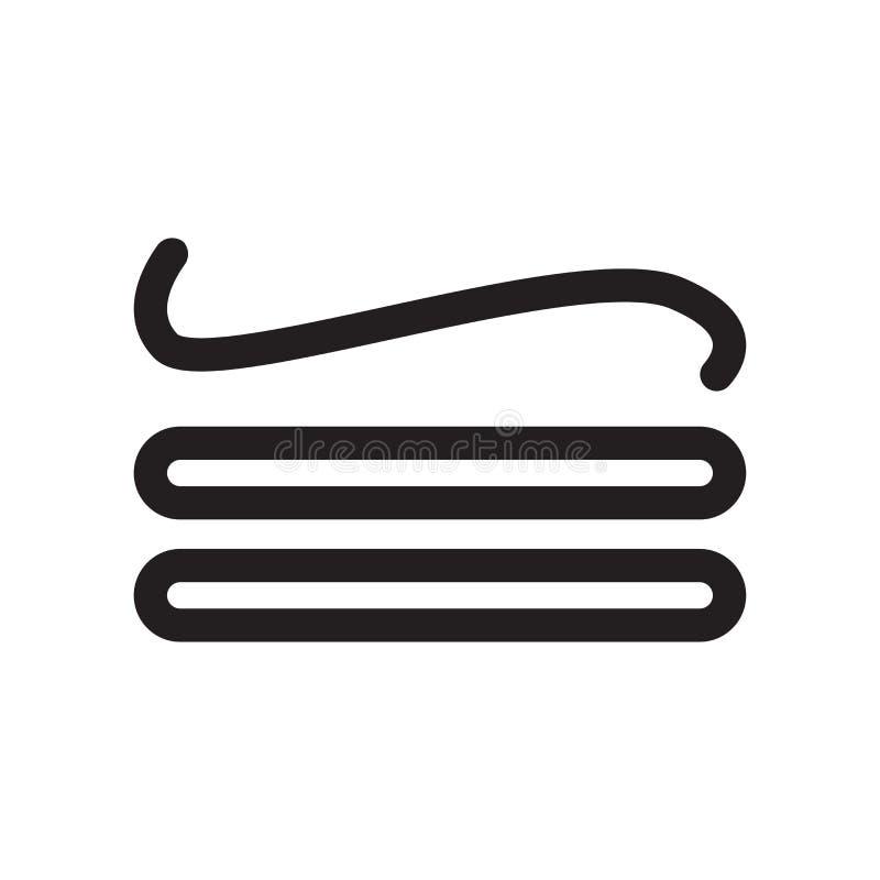是一致的对标志象传染媒介标志,并且在白色背景隔绝的标志,是一致的对标志商标概念 库存例证