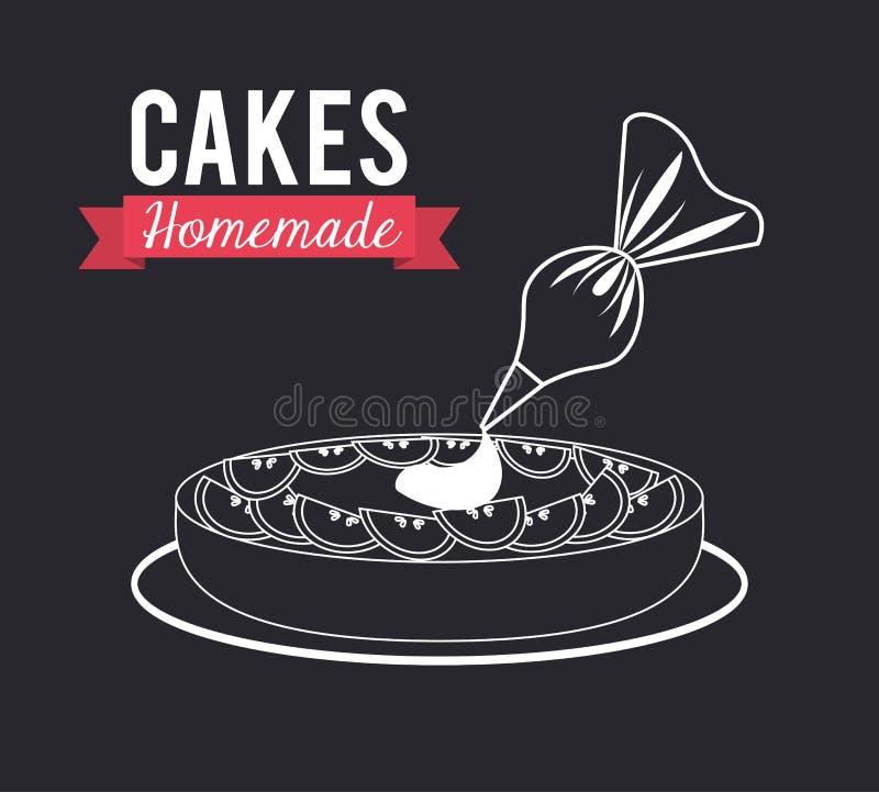 是可能食物自创饼 向量例证