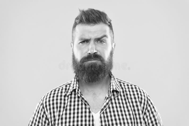 是您严肃 抬眼眉的人严肃的面孔不确信 有一些疑义 不肯定行家有胡子的面孔  免版税库存图片