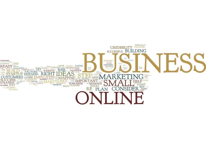 是您为一个成功的网上企业词云彩概念准备 库存图片