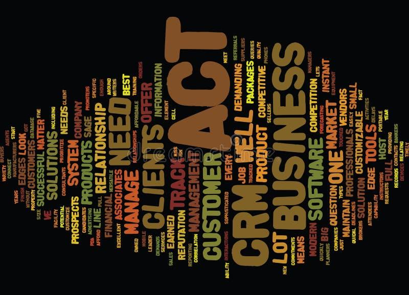 是您为在您的Crm系统词云彩概念的行动 库存例证