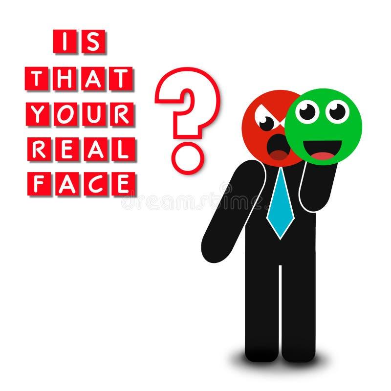 是您真正的面孔,超级质量抽象企业海报 库存例证