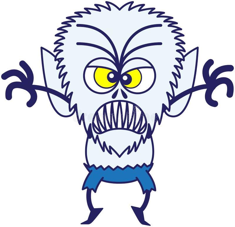是愤怒的万圣夜的狼人可怕的 库存例证