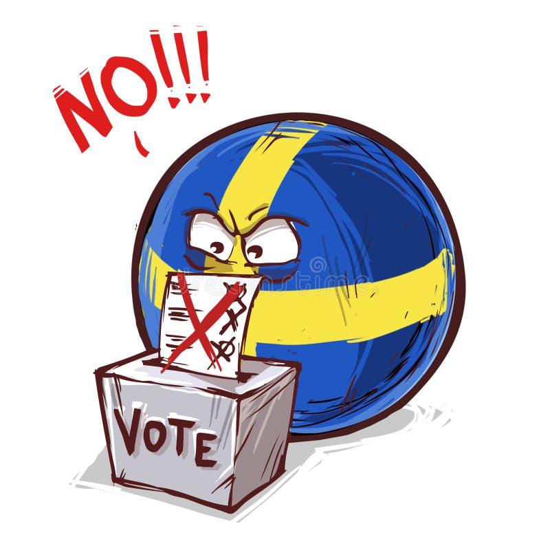 是投反对票的瑞典 皇族释放例证