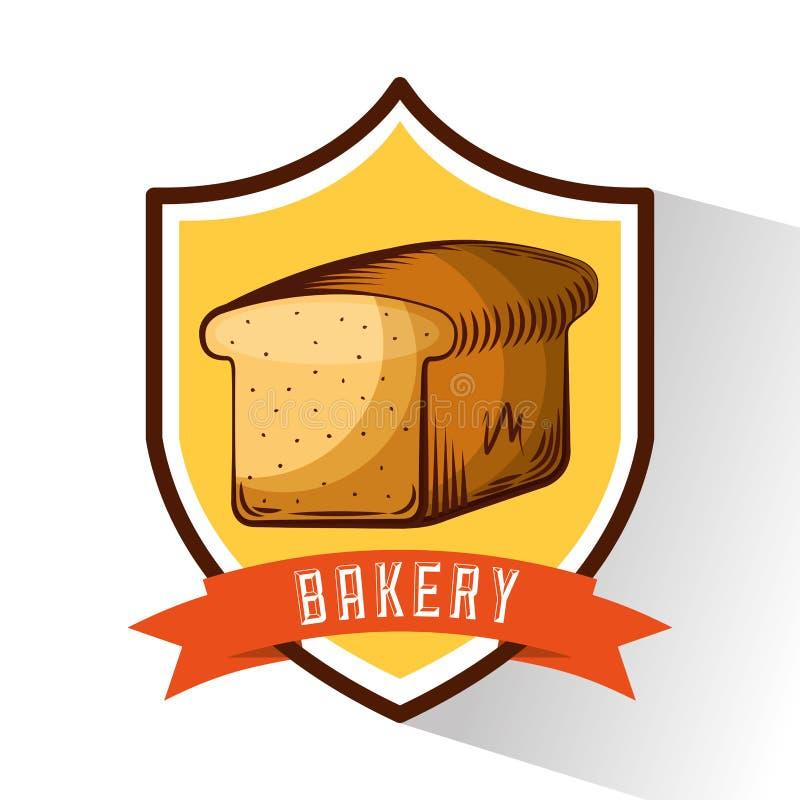 总是新鲜面包店的商店 向量例证