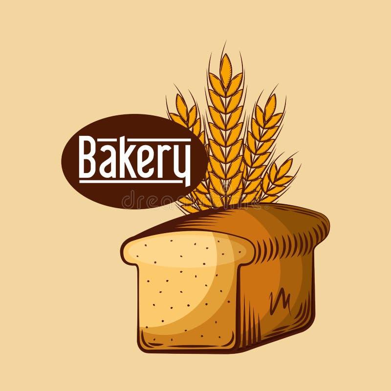 总是新鲜面包店的商店 皇族释放例证