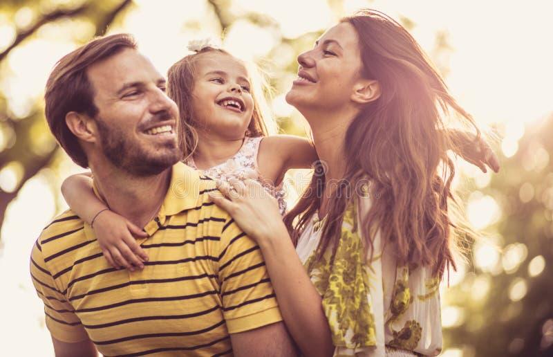 是时间享用与您的家庭 库存照片