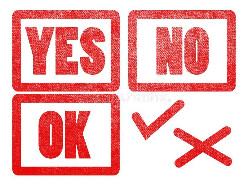 是没有好和检查发怒标记文本标志标签邮票 向量例证