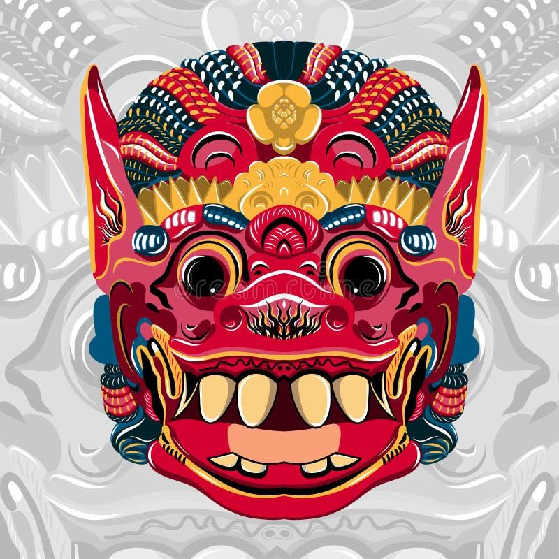 是泰国Khon的邪魔国王的Todsakan面对 向量 库存例证