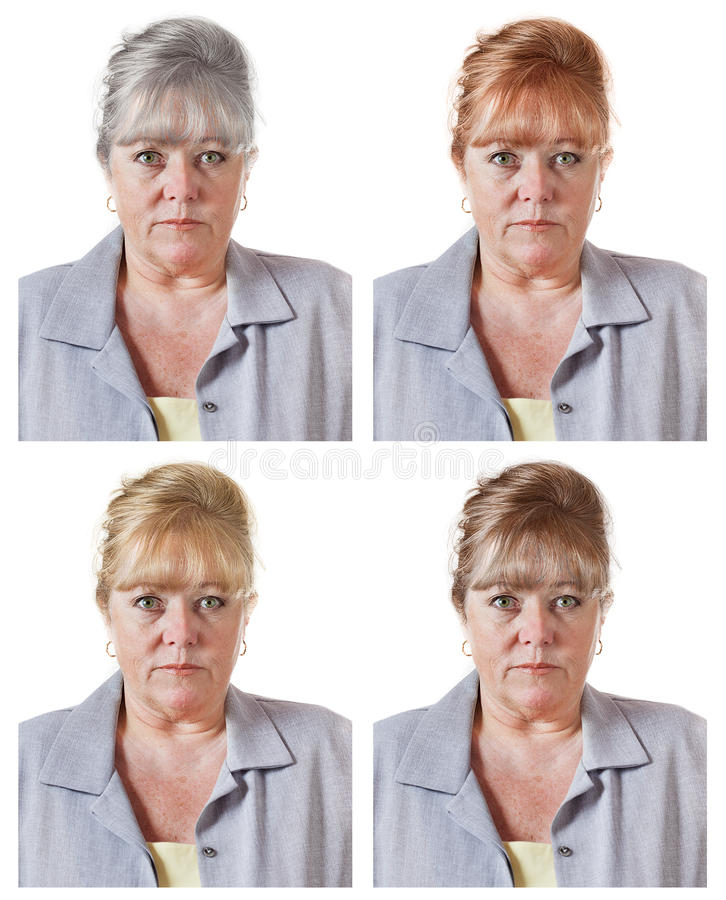 是灰色或洗染头发? 免版税库存照片