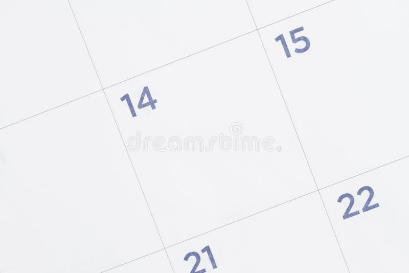 是特写镜头和空白的月度日历 库存图片