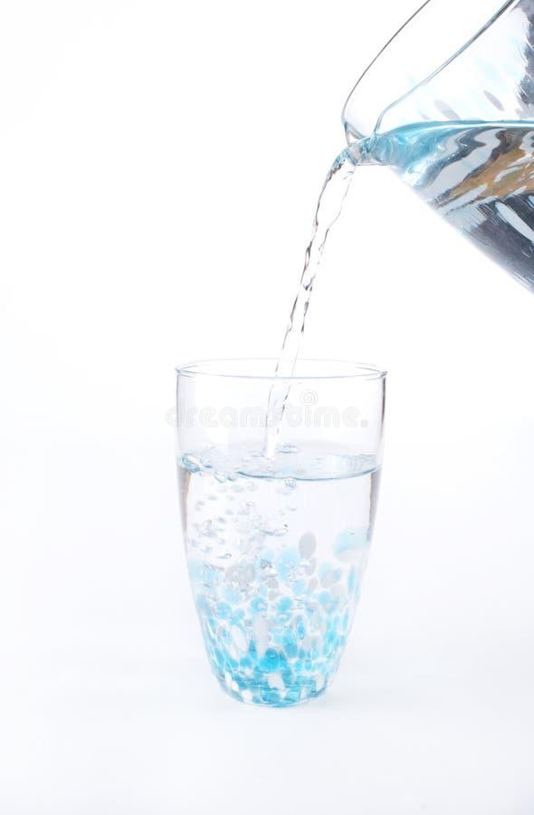 是玻璃照片倾吐的库存水 免版税图库摄影