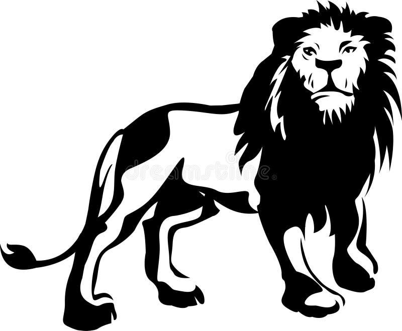 是的动物接近的狮子做公园照片徒步旅行队对非常 向量例证