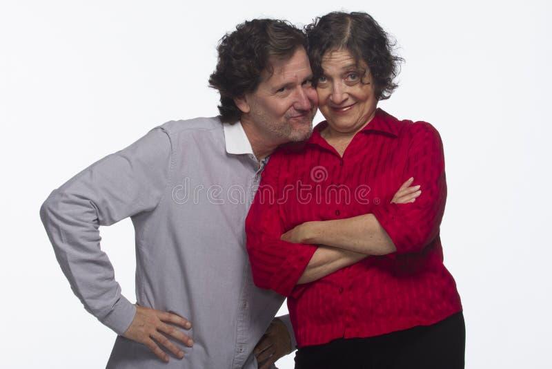 是的夫妇富感情的互相,水平 库存图片