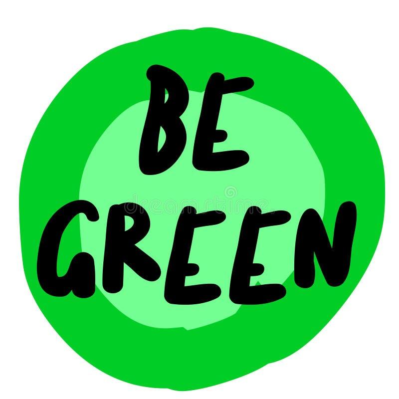 是绿色原始的行情 库存例证
